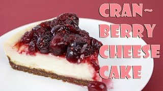 Cranberry Cheesecake with Gingersnap Cookie Crust by Gretchen's Bakery