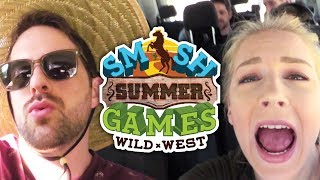 SUBSCRIBE SMOSH GAMES ►► http://smo.sh/SubscribeSmoshGames SUBSCRIBE SMOSH 2ND ►► http://youtube.com/ianHSmosh Summer Games is here - the entire month of JULY - starting July 6th, 2017. On Smosh Games and Smosh 2nd Channel. We hit the road and vlogged our way up to camp!CASTIan HecoxWes Johnson @Wes_IRLJoshua Ovenshire @TheJovenshireAmRa Ricketts @FLitzMari Takahashi @atomicmariEricka Bozeman @bigbossbozeDamien Haas @DamienHaasDavid Moss @LaserCornMatt Sohinki @SohinkiNoah GrossmanKeith LeakCourtney MillerOlivia SuiShayne ToppMatt RaubJoe BeretaSunny PeabodyCREWDirected by: Matt RaubProduced by Alex Hluch & Matt RaubSmosh Co-Founded by Ian Hecox & Anthony PadillaSmosh Games Creative Director: Matt RaubSmosh Creative Director: Joe BeretaSmosh 2nd Creative Director: Sunny PeabodySenior Producer: Alex HluchManaging Producer: Josh MattinglyAssociate Producer: Sarah WhittleAssociate Producer: Rebecca DoyleAssociate Producer: Garrett PalmDirector of Photography: Billy YatesCamera Operator: Darren KhoCamera Operator: John O'ConnorCamera Operator: Richard KeithCamera Operator: Chris Warren1st Assistant Director: Tanner Risner2nd Assistant Director: Andy GarwigSound: Ivan HarderSound: Greg JonesGaffer: Spencer SmithKey Grip: Connor BodellProduction Designer: Tayler NicholsonArt Assistant: Talia BrahmsArt Assistant: Steven SmykaProduction Assistant: Rachel BursonProduction Assistant: Jake SperlingProduction Assistant: Mark RaubMedic: Brad SmithStunt Choreographer: Leo KeiBehind The Scenes: Mike SchmidtDIT/Media Management: Tim BakerEditor: Spencer AgnewEditor: Doug YablunAssistant Editor: Lee Wilson Smosh Games Social Media: Marissa ZaengerCatering: Main Course Catering - Chef Tye & Sous Chef DeniecePlay with us!Subscribe: http://smo.sh/SubscribeSmoshGamesStream: http://twitch.tv/SmoshGamesLike us on Facebook: http://facebook.com/SmoshGames Follow us on Twitter: http://twitter.com/SmoshGamesAdd us to your circles on Google+: http://google.com/+SmoshGames