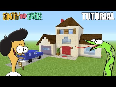 "Minecraft Tutorial: How To Make ""Sanjay and Craig's"" House!! ""Sanjay and Craig"" (Survival House)"