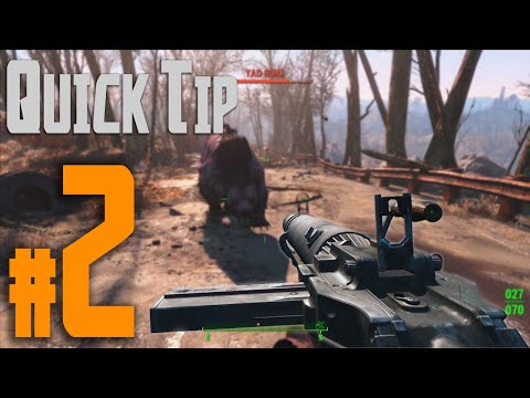 Fallout 4 Quick Tip #2 - Center, Italicize, and Underline Weapon Names (Weapon Tip)