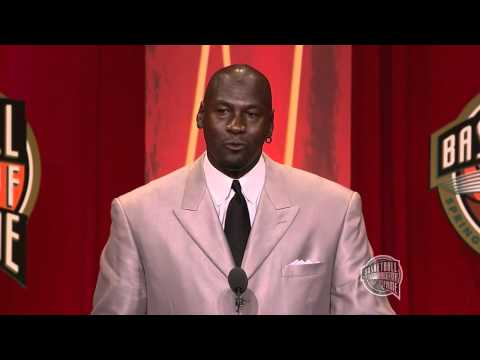 Michael Jordan's Basketball Hall of Fame Enshrinement Speech