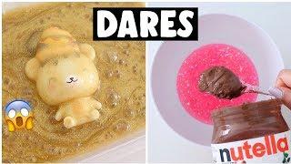Video EXTREME SLIME & SQUISHY DARES?! *making nutella slime* MP3, 3GP, MP4, WEBM, AVI, FLV September 2018