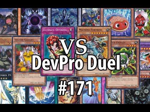 "Yu-Gi-Oh! DevPro Duel #171 – Cross banlist – Offering Gadgets (2011) vs. ""2014 Worlds"" Gadgets"