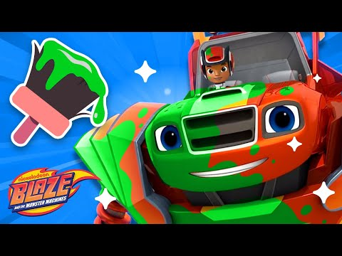 Makeover Machines #7 w/ Robot Blaze! | Games for Kids | Blaze and the Monster Machines