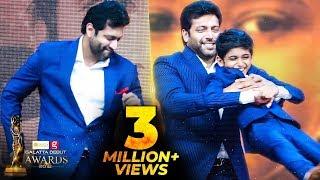 Video FIRST TIME EVER: Jayam Ravi's Cute Dance for his Son Aarav | Kurumba | Galatta Debut Awards MP3, 3GP, MP4, WEBM, AVI, FLV Maret 2019