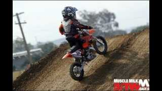5. 4 Year Old Kid Riding KTM 50 SX Dirt Bike