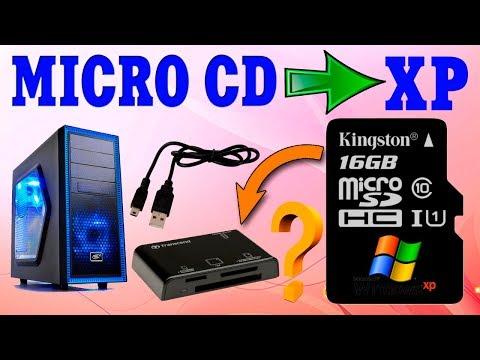 Установка Windows XP с MICRO CD флешки