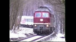 Winter im Thüringer Wald, Gräfenroda - Gehlberg im Februar 1999