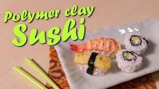 Cute Miniature Sushi - Polymer Clay Tutorial - YouTube