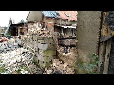 Wideo1: Zniszczenia po pożarze w Łysinach