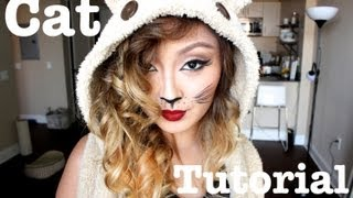 Last Minute Halloween Party Cat Makeup!