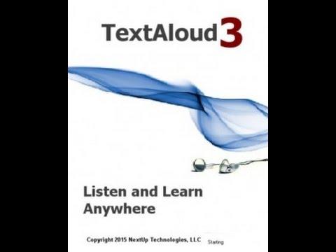 برنامج تحويل المكتوب الى مسموع Nextup TextAloud 3.0.85