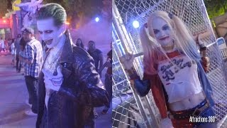 Suicide Squad Characters Meet & Greet Cosplay - Six Flags Fright Fest -  Joker & Harley Quinn