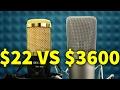 $22 MICROPHONE VS $3600 MICROPHONE