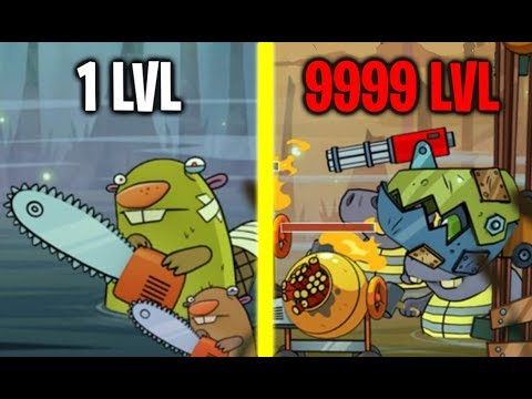 Swamp Attack All Boss Monsters Battles! Max Level Weapon & Defense! (9999+ Level Monsters!)