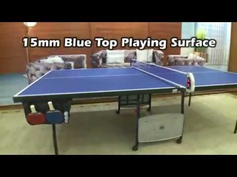 MD Sports 4-Piece Table Tennis Table with Scorer