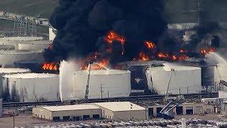 ITC Fire Deer Park: 7 tanks on fire