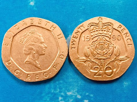 UK 20P 1990 - Twenty Pence - Look for Valuable 1990P error coins from the United Kingdom.