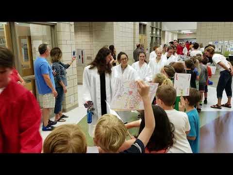 Video: Spring Lake High School graduates walk through Jeffers Elementary