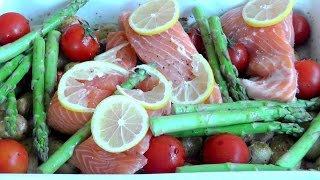 Roasted vegetables with salmon simple healthy food recipe How to cook roasted vegetables with salmon. Easy to prepare healthy and very tasty. Although I ...