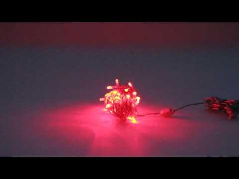Led-jõulukaunistus valgusti kett 40 lediga, punane, 7,8+5m, IP44