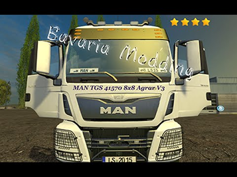 MAN TGS 41570 8x8 heavy duty agricultural v3.0