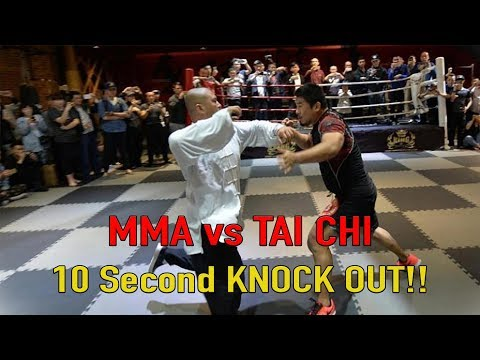 MMA vs Tai Chi 10 Second KNOCK OUT!!!