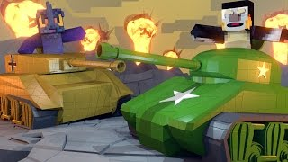 Minecraft | REALISTIC ARMY TANKS WITH GIANT CANNONS! Flans Tanks Mod Showcase!