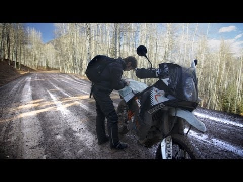 Off-Road in the Snow on a KTM 990 Adventure - /RideApart