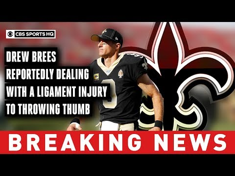 Video: Brees reportedly needs surgery on torn ligament in hand, could miss 6 weeks or more | CBS Sports HQ
