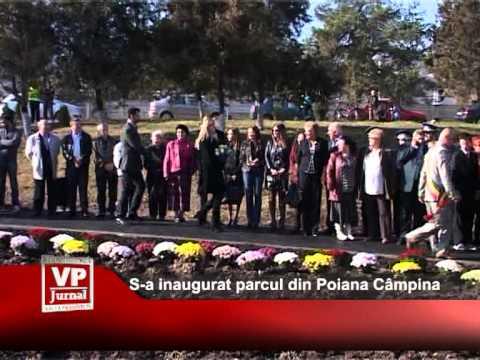 S-a inaugurat parcul din Poiana Câmpina