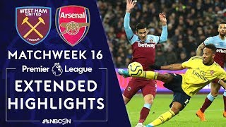 West Ham United v. Arsenal | PREMIER LEAGUE HIGHLIGHTS | 12/09/19 | NBC Sports