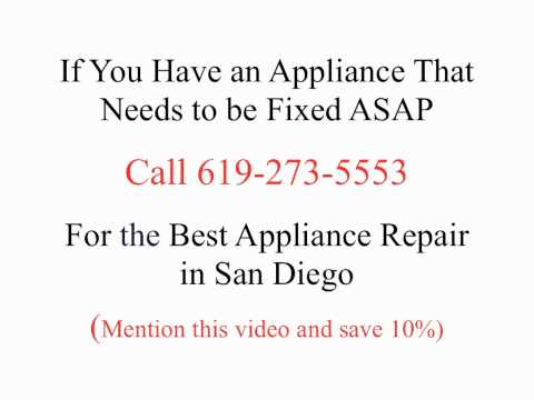 Best Appliance Repair in San Diego | (619) 273-5553 | 10% off