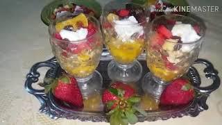 طريقة تحضير سلطة الفواكه salade de fruit