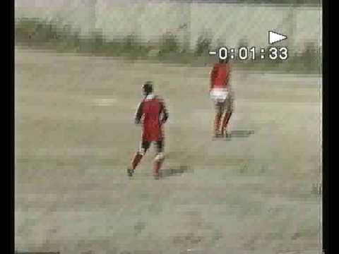 Perdaxius (CA) Italiy Torneo di calcio anno 1992. Il S. Leonardo in campo