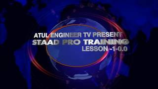"""THIS VIDEO TRAINING COURSE HAS 4 LEVELSLEVEL1(BEGINNER)Lesson 1 (Introduction),Lesson 2 (Modeling ),Lesson 3 (Introduction to other Methods of modeling as Structure wizard)LEVEL 2(INTERMEDIATE)Lesson 4 (Assigning properties and Fixing size of members ),Lesson 5 (Constants, Supports and Specifications),Lesson 6 (Loading the Modeled structure)LEVEL3:(ADVANCD)Lesson 7(PERFORMING ANALYSIS &DESIGN),Lesson8( Genrating reports)Lesson 9(PERFORMING Concrete Design)Lesson 10(PERFORMING Steel Design) LEVEL4(HANDS ON -EXPERT)Putting up together- Live projectsCONCRETE BUILDINGSTEEL STRUCTURESWATER RETAINING STRUCTURESADVERTISING STRUCTURESSUBSCRIBE & COMMENT Contact me on atulkumarengineer@gmail.com,+2348075856429.Follow Me On Linkeden in.linkedin.com/pub/atul-engineer/26/500/b03/http://atulengineer.blogspotcom..-~-~~-~~~-~~-~-Please watch: """"How To Use Torrents To Download Videos,Music, Pdf ,games Etc For Free (IN HD)"""" https://www.youtube.com/watch?v=4fnnT81C5EM-~-~~-~~~-~~-~-"""