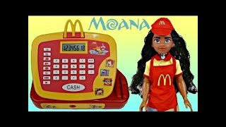 MOANA Mcdonald's Cash Register with Happy Meal Toy Surprises