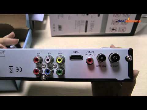 H.264/MPEG 4 DVB-T2 HD/SDTV Receiver Digital Television Box - DX