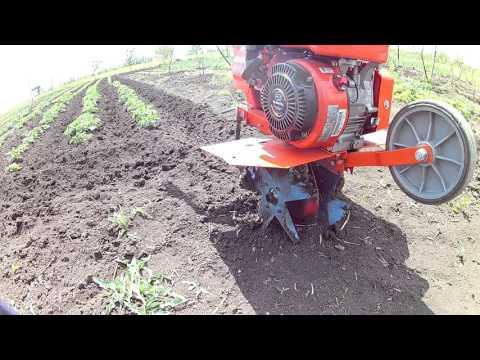 Посадка картофеля мотокультиватором с активным окучником пропеллерного типа - игровое видео смотреть онлайн на ZadrotTV.ru