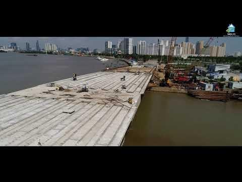 Toàn cảnh cây cầu Đảo Kim Cương (Sài Gòn) 500 tỷ đồng sắp hoàn thành vào ngày 30/5/2018 | Vres tv - Thời lượng: 3:01.