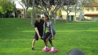 Red Carpet FitnessTips With Patrick Murphy And Sara Nuru