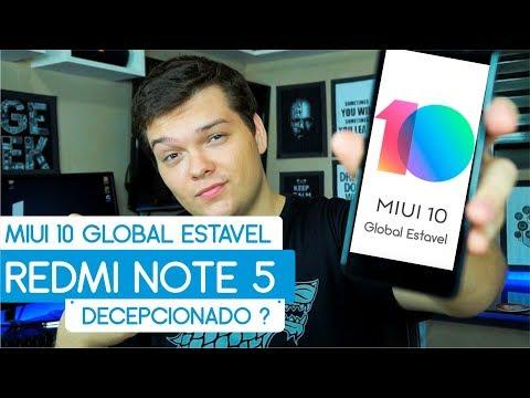 LANÇOU ! MIUI10 Global Estavel PT BR Redmi Note 5 | L Tech