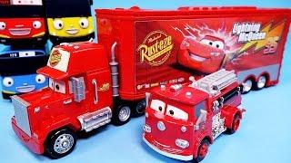 Video Cars Disney Cars Mack Truck & Lightning McQueen, Red Deluxe & Tayo the little bus toy MP3, 3GP, MP4, WEBM, AVI, FLV Juni 2017