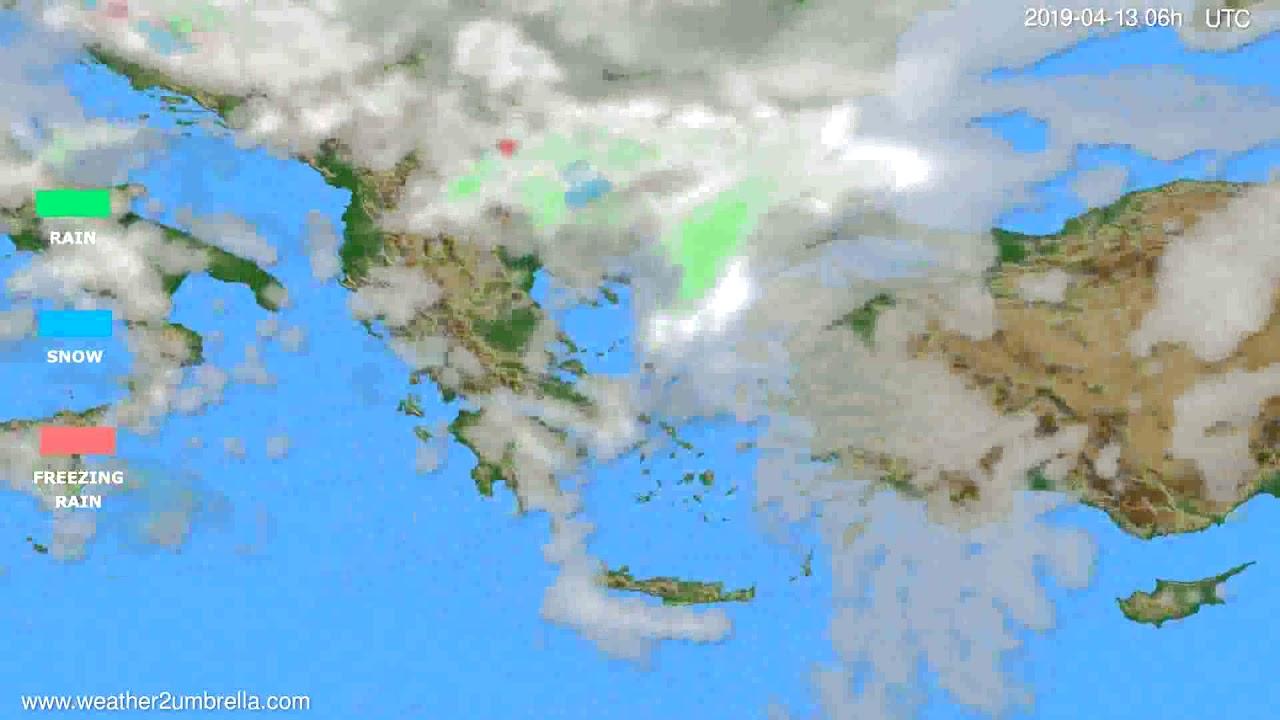 Precipitation forecast Greece // modelrun: 00h UTC 2019-04-11