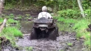 9. 4 Wheeling, Muddy Day. Arctic Cat 700 Diesel, Outlander 400