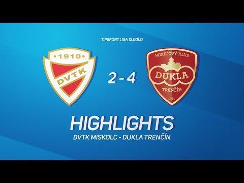 12. forduló: DVTK Jegesmedvék - Dukla Trencin 2-4