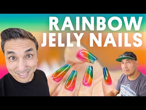 RAINBOW JELLY NAILS (GEL NAILS) - VLOG 152