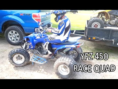 First ride on the new Yamaha  YFZ 450