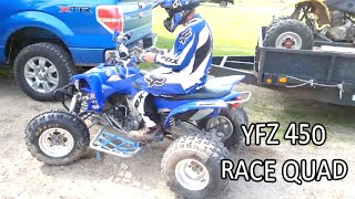 5. First ride on the new Yamaha  YFZ 450