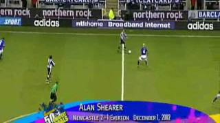 Alan Shearers Granate gegen Everton